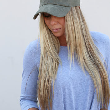 Suede Ball Cap [Olive]