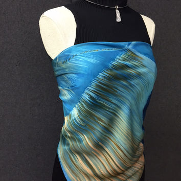 Boat Dock - Hand Painted Silk Scarf