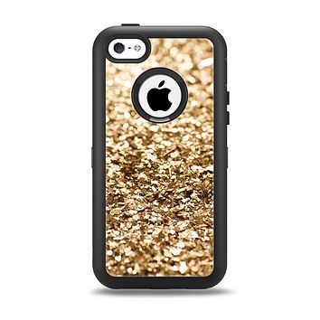 The Gold Glimmer V2 Apple iPhone 5c Otterbox Defender Case Skin Set