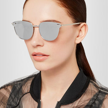 Le Specs - Luxe Pharaoh cat-eye metal mirrored sunglasses