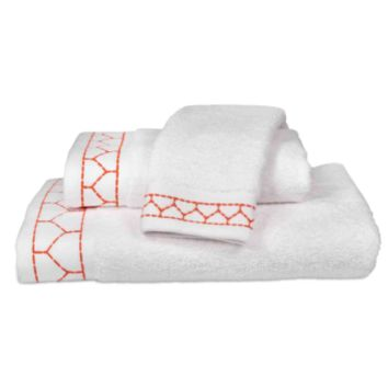 Linah Embroidered Towel Collection Coral