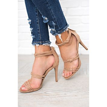 Just The Way You Are Strappy Heels (Warm Taupe)