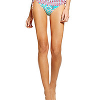 Gianni Bini Tribal Broder-Print Tunnel-Tie Bottom - Crystal