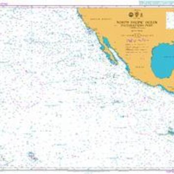 British Admiralty Nautical Chart  4051: North Pacific Ocean South Eastern Part