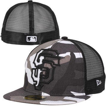 New Era San Francisco Giants 59FIFTY Urban Camo Mesh Fitted Hat - Camo/Black
