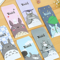 5 pcs/pack Cute Totoro Cartoon Envelope Message Card Letter Stationary Storage Paper Gift