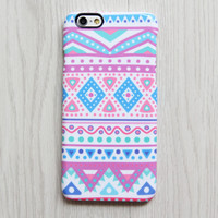 Tribal Pink Blue iPhone 6s case iPhone 6 plus Case Ethnic iPhone 5S iPhone 5C iPhone 4S Case Ethnic Galaxy S6 edge S6 S5 S4 Note 3 Case 072