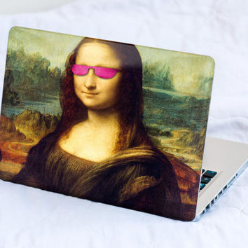 Mona Lisa Party MacBook Decal Skin MacBook decal sticker MacBook Pro Retina Cover MacBook Air Asus Lenovo Leonardo da Vinci Pink Sunglasses