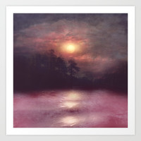 Hope in the pink water Art Print by vivianagonzlez