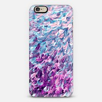 FROSTED FEATHERS 1 - Colorful Ombre Abstract Painting Whimsical Lavender Purple Plum Cool Blue Ombre Bird Wings Ocean Waves Splash Fine Art Modern Stylish Chic Animals Pets Design iPhone 6 case by Ebi Emporium | Casetify