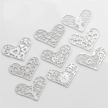 Hearts Cut Out Plate for Heart Charm Locket Necklaces ~ Choose Your Theme!