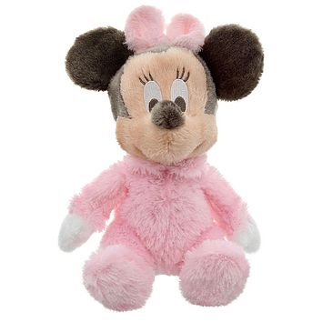 "disney parks minnie mouse 9"" long pile with rattle inside plush new with tags"