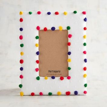 Multicolor Mini Pompom 4x6 Photo Frame