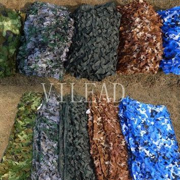 VILEAD 9 Colors 3M*8M Camouflage Netting Reusable Camo Net For Pool Part Decoration Outdoor Activity Hunting Beach Sun Shade