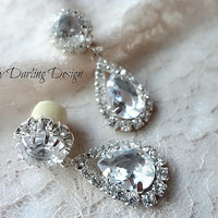 00g Organic 'Classic Romance' Rhinestone Dangle Plugs
