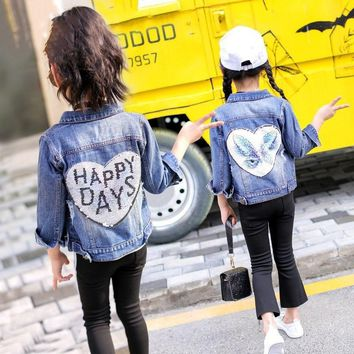 Happy Day Baby Kid Child Toddler Denim Jacket
