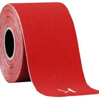 "KT TAPE Original Cotton Elastic Kinesiology Theraeputic Tape - 20 Pre-Cut 10"" Strips, Red"