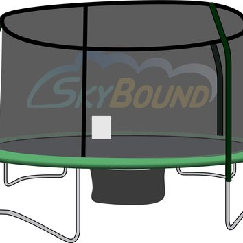 SkyBound 15 Foot Trampoline Net - Fits 15 Foot Frames with 4 Enclosure Poles and G3/G4 Top Ring