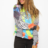 Mr Gugu & Miss Go - Hip Collage Sweater - Print