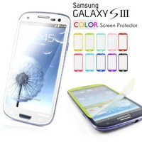 Galaxy S3 Screen Protector, Caseology [HD Clarity] Samsung Galaxy S3 Screen Protector [2-Pack] [White] [3-Month Warranty] Color Film [Crystal Clear] Front Screen Protection Galaxy S3 Screen Protector (for Samsung Galaxy S3 Verizon, AT&T Sprint, T-mobile, U