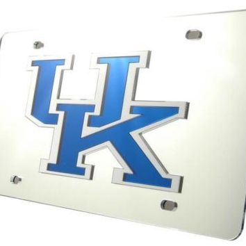 Kentucky Wildcats SLV 02044 Deluxe Laser Acrylic License Plate Tag University of