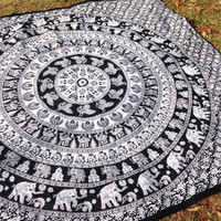 ELEPHANT MANDALA ➳ NEW TAPESTRY BED SHEET