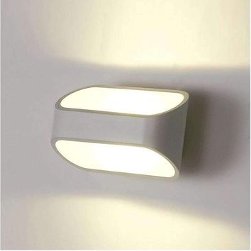 Tanbaby Modern 5W Wall Lamps White Sconces Lighting Fixture AC 85-265V Bedroom bathroom wall decoration for home Garden