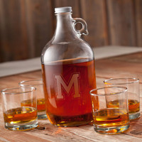 Personalized Whiskey Growler and Set