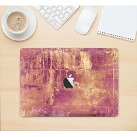 """The Pink Paint Splattered Brick Wall Skin Kit for the 12"""" Apple MacBook"""