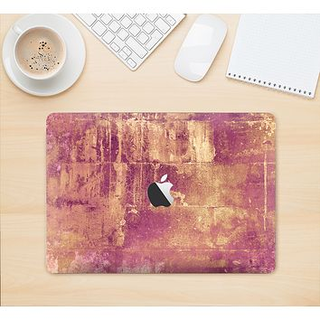 "The Pink Paint Splattered Brick Wall Skin Kit for the 12"" Apple MacBook"