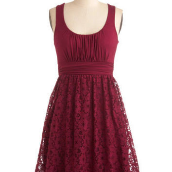 Artisan Iced Tea Dress in Raspberry