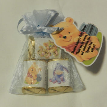30 Unique Personalized Winnie the Pooh Baby Shower Hershey's nugget labels, candy wrappers