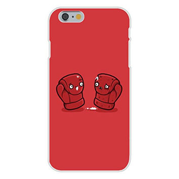 Apple iPhone 6 Custom Case White Plastic Snap On - 'Boxing Gloves' Box Match Humor