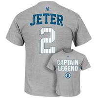 Majestic New York Yankees Derek Jeter Retirement Captain Tee - Men