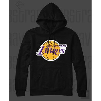 LeBron James Los Angeles LA Lakers 23 Jersey Style Unisex Pull Over Hoodie