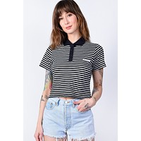 Black Stripe Boxy Polo by Dickies Girl