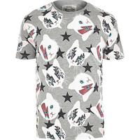 River Island MensGrey Worn By Rock Cats t-shirt