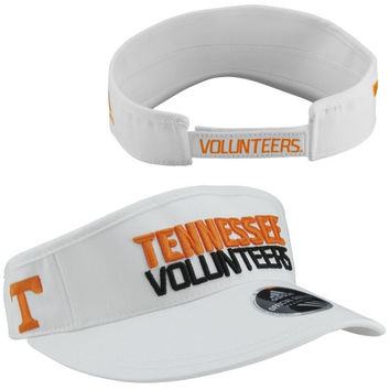 Tennessee Volunteers adidas Spring Game Ace Adjustable Performance Visor - White
