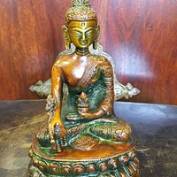 Buddhist Brass Statue Buddha Earth Touching Mudra Sculpture Religious Figurine 5.5: Amazon.ca: Home & Kitchen