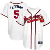 Majestic Freddie Freeman Atlanta Braves #5 Player Replica Jersey - White