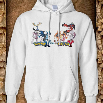 pokemon Hoodie color black and white by pahpohhoodie
