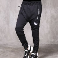 XQUARE Dope Redemption Stretch Pintuck Biker Jersey Pants