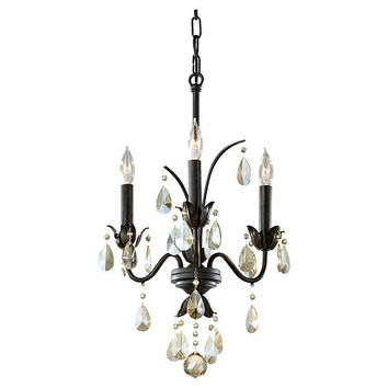 Murray Feiss Charlene 3 Light Bronze Mini Chandelier - F2756/3LBR
