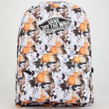 VANS Cat Print Realm Backpack | Backpacks
