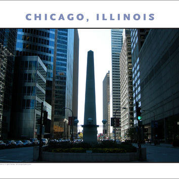 Monuments, Architecture, Color in Chicago, New Photo Wall Art #969