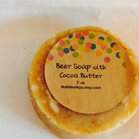 Beer Soap, Natural Vegan Soap with Honey and Sweet Oil Essential Oil, 5 oz Natural Olive Oil Coconut Oil