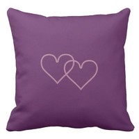 Two strawberry hearts throw pillow