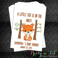 10% OFF -BS19 – Fox Baby Shower, Woodland Favors, Woodland Baby Shower, Forest Animals, Baby Shower, Favors, Popcorn Bags, Candy Buffet,
