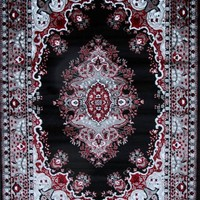0889 Black Oriental Area Rugs