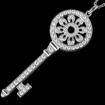Tiffany & Co. Sun Flower Diamond Key Necklace